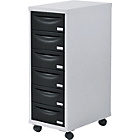 Pierre Henry 6 Drawer Multi Filing Cabinet - Silver/Black
