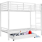 more details on Kenny White Bunk Bed Frame & Storage.