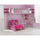 more details on Sit 'N Sleep Metal High Sleeper Bed Frame - Pink Futon.