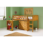 more details on Kelsey Mid Sleeper Bed Frame with Desk - Antique Pine.