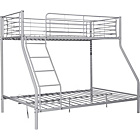 more details on Silver Metal Triple Bunk Bed Frame with Bibby Mattress.
