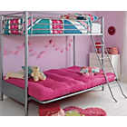 more details on Metal Bunk Bed Frame with Futon - Fuchsia.