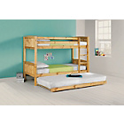 more details on Classic Bunk Bed Frame with Trundle - Antique Pine.