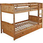 more details on Classic Bunk Bed Frame with Storage - Antique Pine.