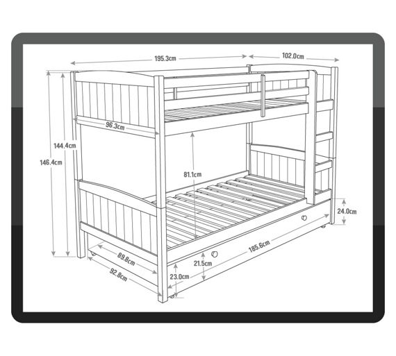 Buy home detachable single bunk bed frame with storage for Detachable bunk beds