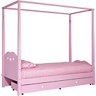 more details on Ashley Four Poster Single Bed Frame - Pink.