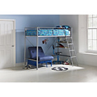more details on Sit 'n' Sleep Metal High Sleeper Bed Frame - Blue Futon.