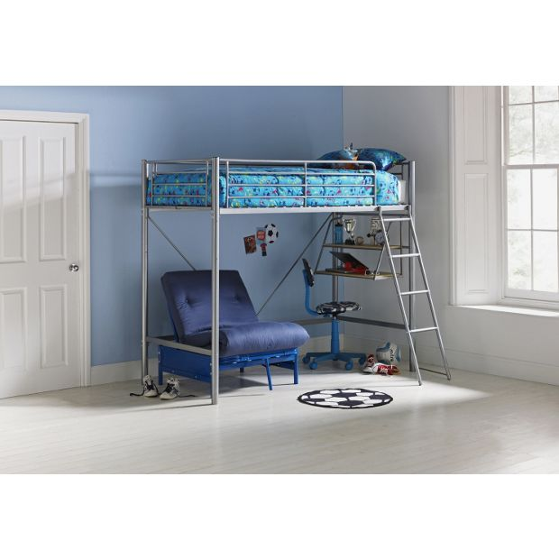 Buy Home Sit N Sleep Metal High Sleeper Bed Frame Blue