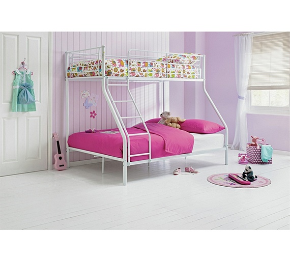Buy Metal Triple Bunk Bed Frame White At Argos Co Uk