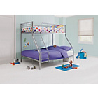more details on Metal Triple Bunk Bed Frame - Silver.