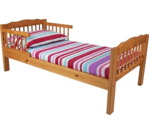 buy antique pine toddler bed frame natural at. Black Bedroom Furniture Sets. Home Design Ideas
