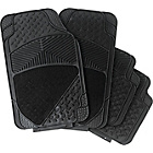 more details on Streetwize Set of 4 Premium Rubber & Carpet Car Mats-Black.