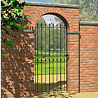 more details on Metpost Montford Spear Top Tall Steel Gate - 81x180cm.