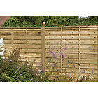 more details on Larchlap Solway Panel 1.8m x 1.2m - Pack of 5.
