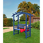 more details on Grange Fencing Romana Arbour - Pre-Painted Blue.