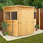 more details on BillyOh Premium Tongue and Groove Corner Shed 7ft x 7ft.