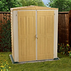 more details on DuraMax YardMate Woodgrain Apex Plastic Shed - 5.8 x 3.2ft.
