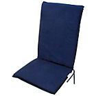more details on Garden Recliner Cushion - Blue.