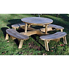 more details on Grange Fencing Round Garden Table with Seats.