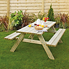 more details on Grange Fencing Oblong Garden Table with Foldable Seats.