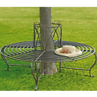 more details on Circular Tree Garden Steel Seat - Brown.