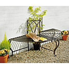 more details on Half Circular Garden Steel Seat - Brown.
