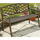 more details on Garden Cast Iron Bench - Brown.