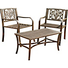 more details on Garden Armchairs with Cast Iron Inserts - Set of 2 - Brown.