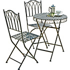 more details on Versailles Bistro Garden Set - Steel.