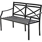 more details on Provence Garden Steel Bench - Brown.