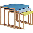 more details on Habitat Kilo Nest of 3 Tables - Blue and Yellow.