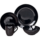 more details on 16 Piece Bosa Coupe Stoneware Dinner Set - Black.