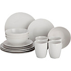 more details on Collection 16 Piece Bosa Coupe Stoneware Dinner Set - White.