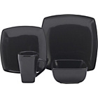 more details on 16 Piece Bosa Square Stoneware Dinner Set - Black.