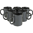 more details on Argos Value Range 6 Piece Mug Set - Black.