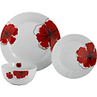 more details on 12 Piece Porcelain Poppies Dinner Set.