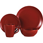 more details on 16 Piece Bosa Coupe Stoneware Dinner Set - Red.
