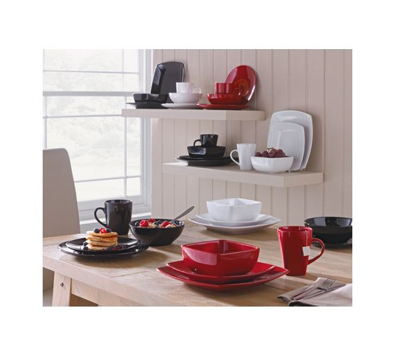 Buy Collection 12 Piece Bosa Square Stoneware Dinner Set ...