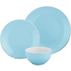 more details on ColourMatch Two-Tone 12 Piece Dinner Set - Jellybean Blue.