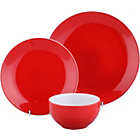 more details on ColourMatch Two-Tone 12 Piece Dinner Set - Poppy Red.