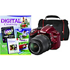 more details on Nikon D3200 DSLR Camera Kit with 18-55mm Lens - Red.