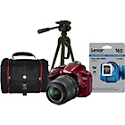 more details on Nikon D3200 DSLR Camera Premium Kit with 18-55mm Lens - Red.