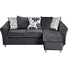 more details on Living Isabelle Movable Chaise Corner Sofa Group - Charcoal.