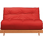 more details on Tosa Pine Futon Sofa Bed with Mattress - Red.