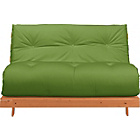 more details on Tosa Pine Futon Sofa Bed with Mattress - Green.