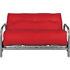 more details on Mexico Futon Sofa Bed with Mattress - Red.