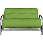 more details on Mexico Futon Sofa Bed with Mattress - Green.