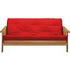 more details on Cuba Futon Sofa Bed with Mattress - Red.
