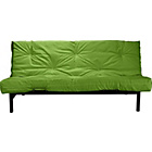 more details on Clive Black Metal Futon Sofa Bed with Mattress - Green.