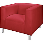 more details on Jasper Leather and Leather Effect Chair - Red.
